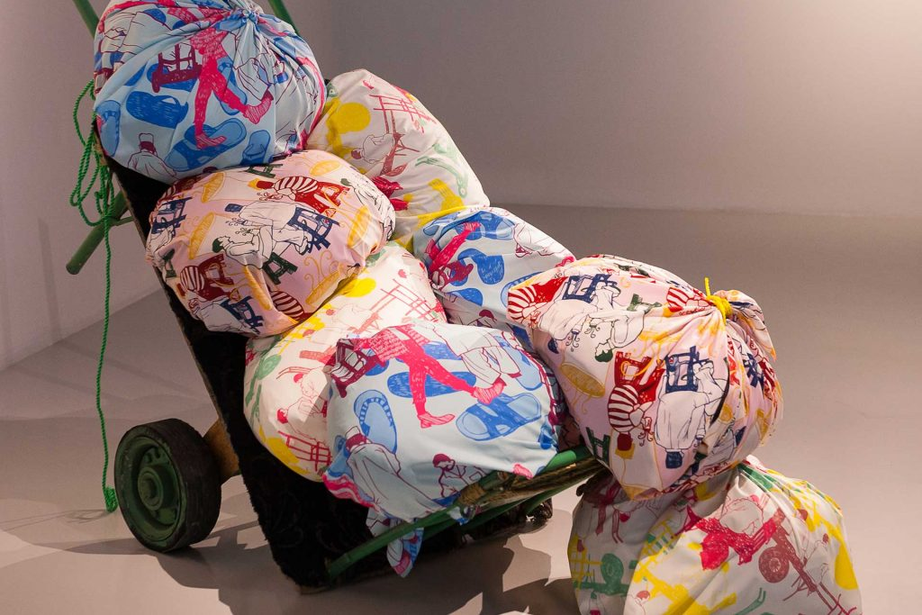 Emirian fabric bales
